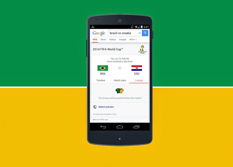 Google já se preparou para a Copa, lista dos jogos e muito mais!