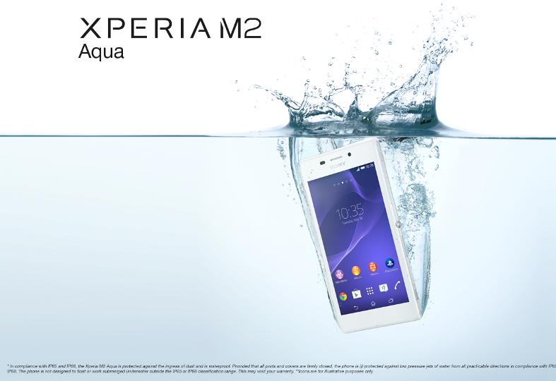 Xperia M2 Possui Certificação IP 65/68